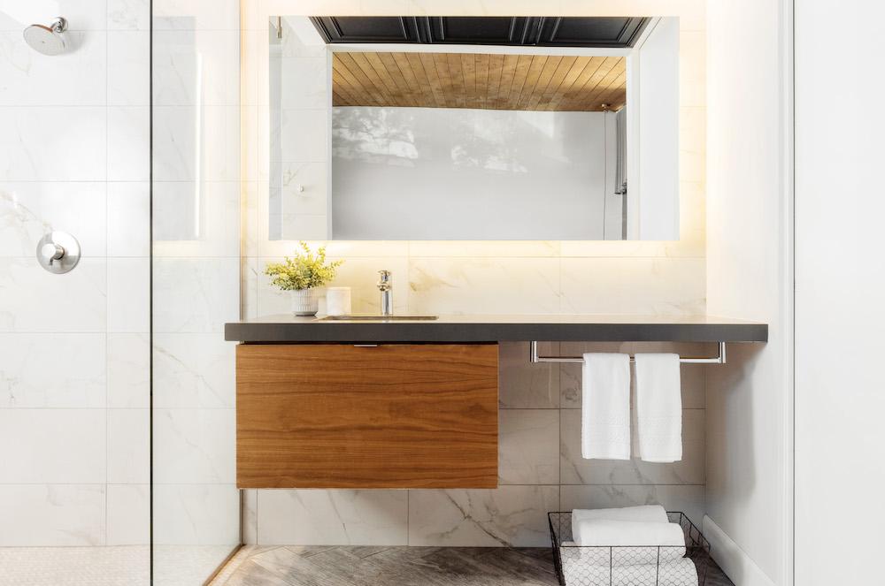 ARRIVE Palm Springs guest room vanity