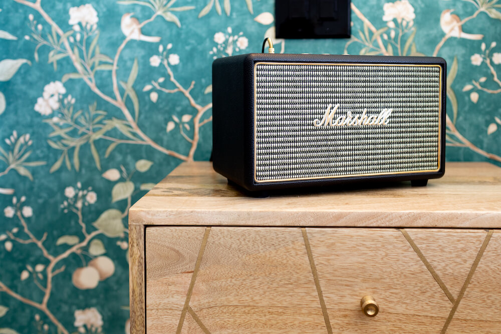 Marshall speaker close up